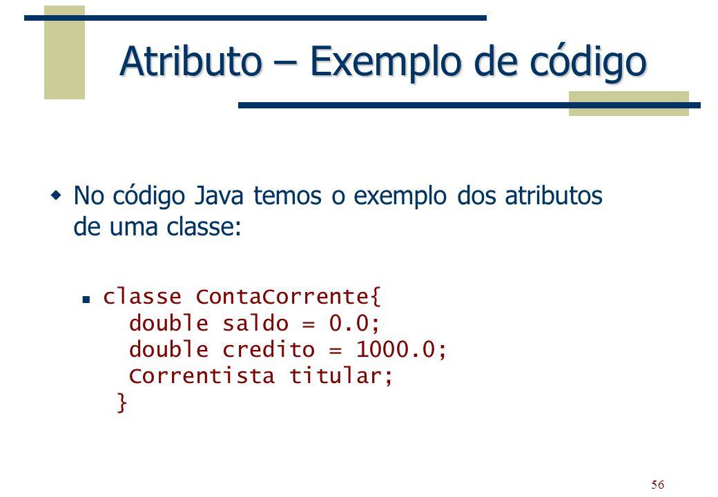 Atributo – Exemplo de código