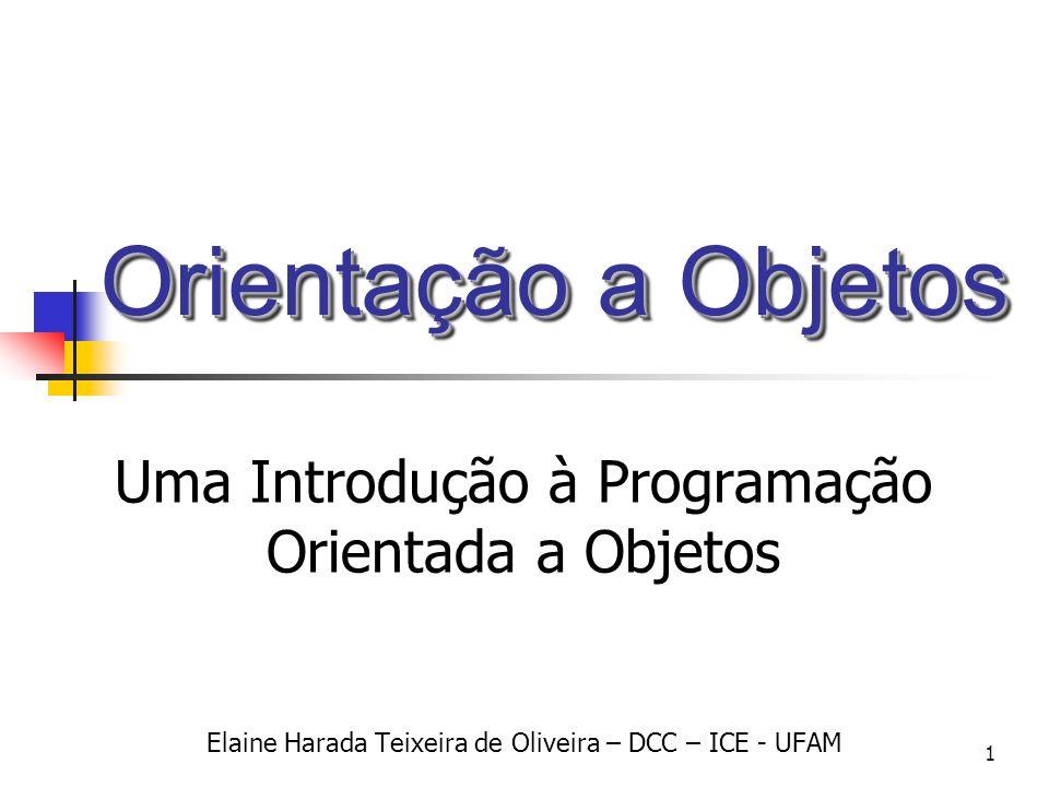 Orientação a Objetos Uma Introdução à Programação Orientada a Objetos