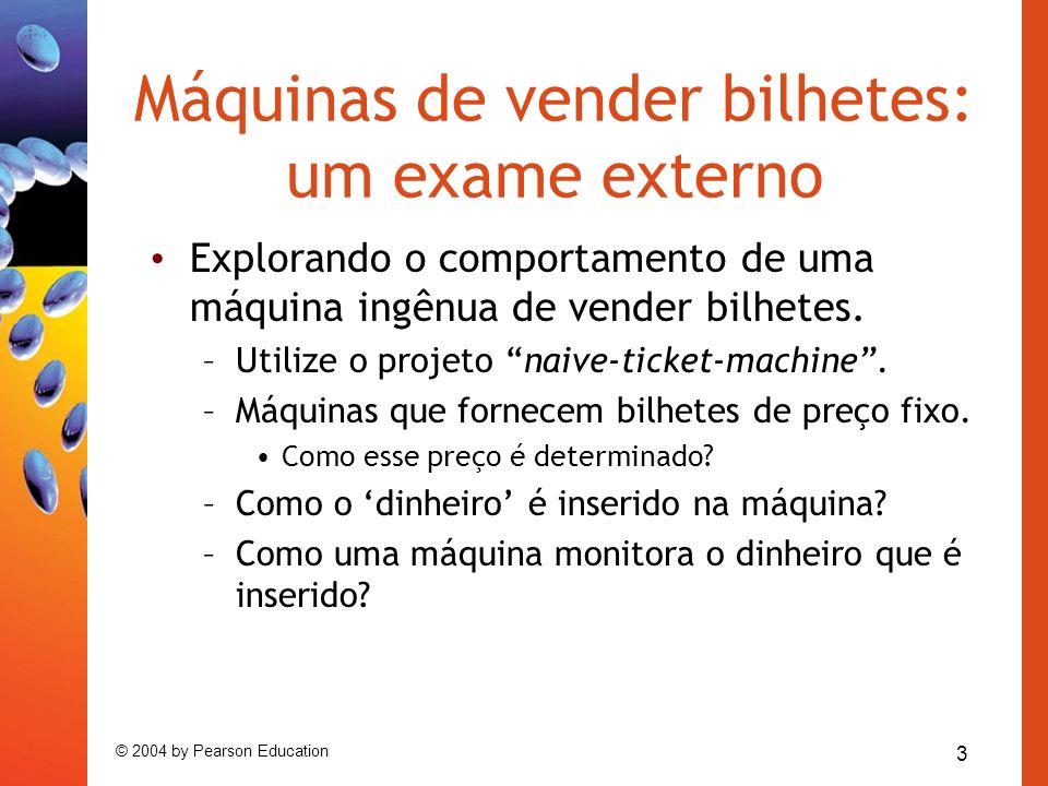 Máquinas de vender bilhetes: um exame externo