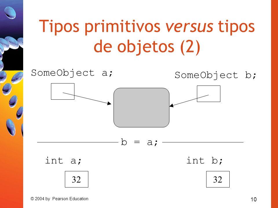 Tipos primitivos versus tipos de objetos (2)