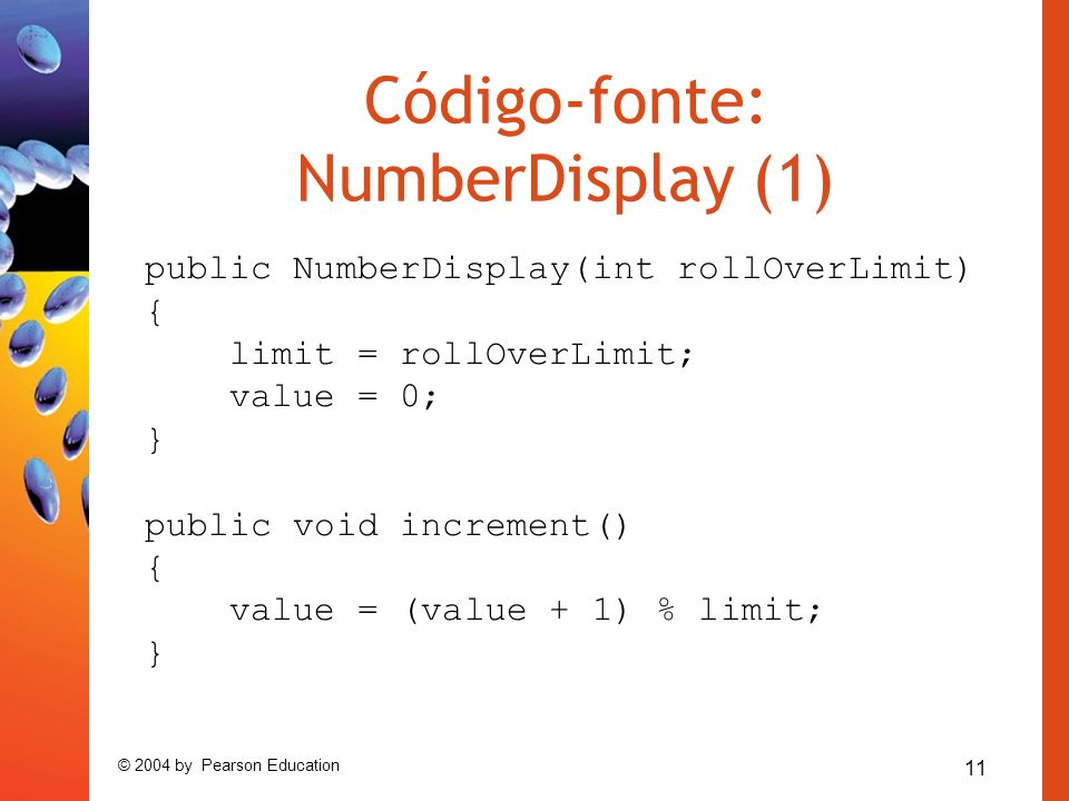 Código-fonte: NumberDisplay (1)
