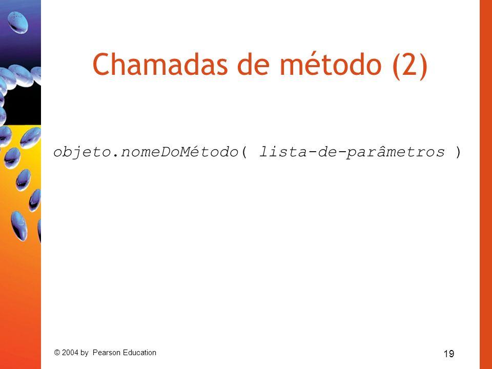 objeto.nomeDoMétodo( lista-de-parâmetros )