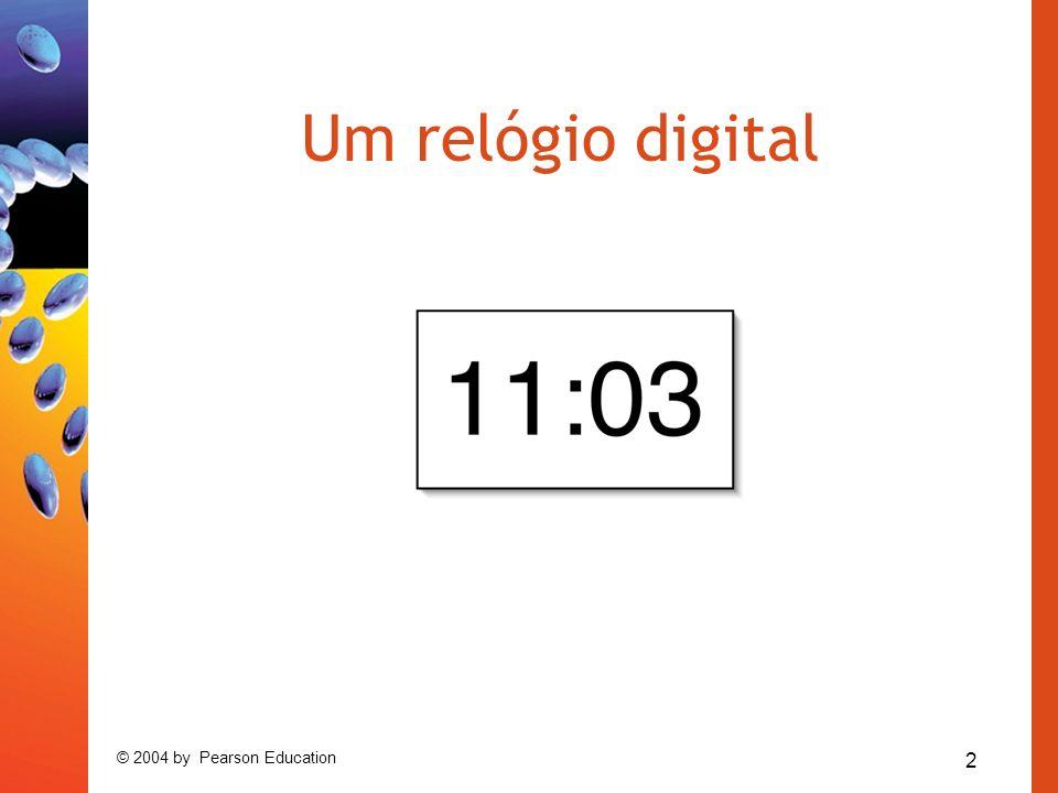 Um relógio digital © 2004 by Pearson Education