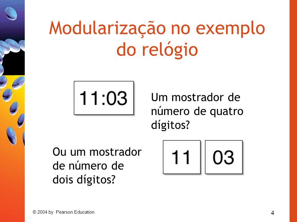 Modularização no exemplo do relógio