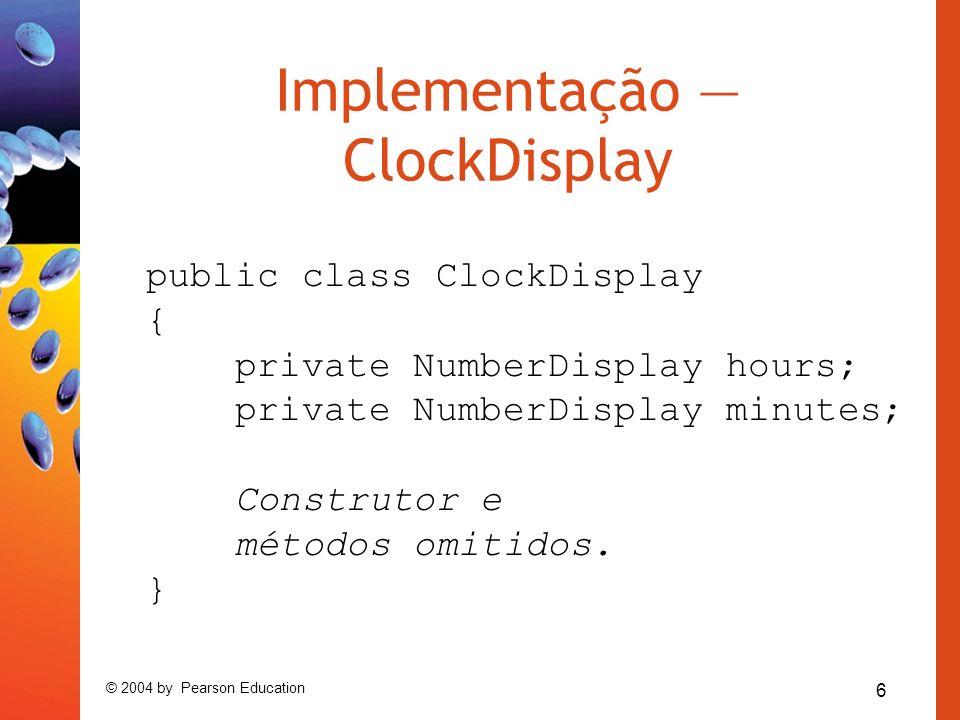 Implementação — ClockDisplay