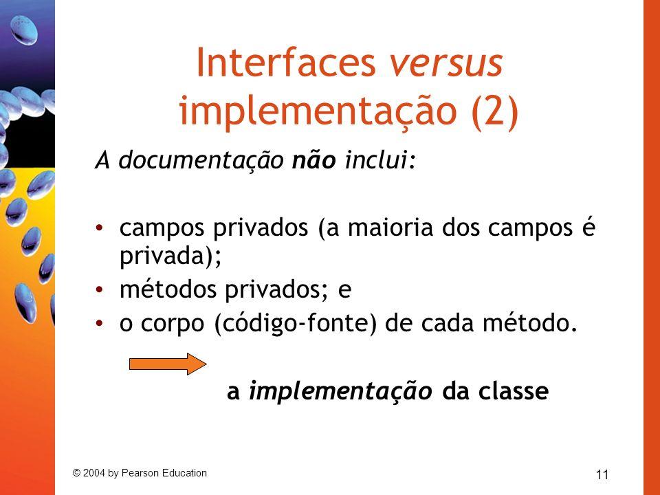 Interfaces versus implementação (2)
