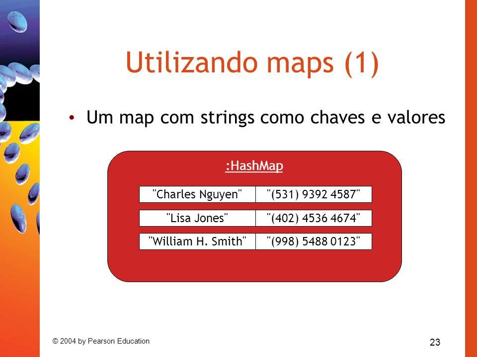 Utilizando maps (1) Um map com strings como chaves e valores :HashMap