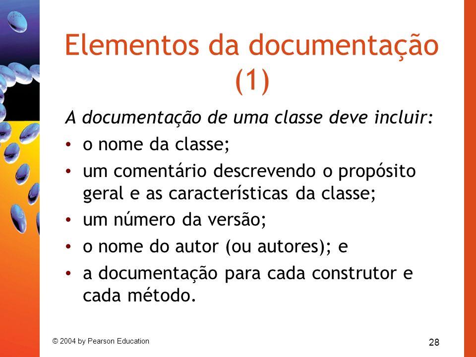 Elementos da documentação (1)