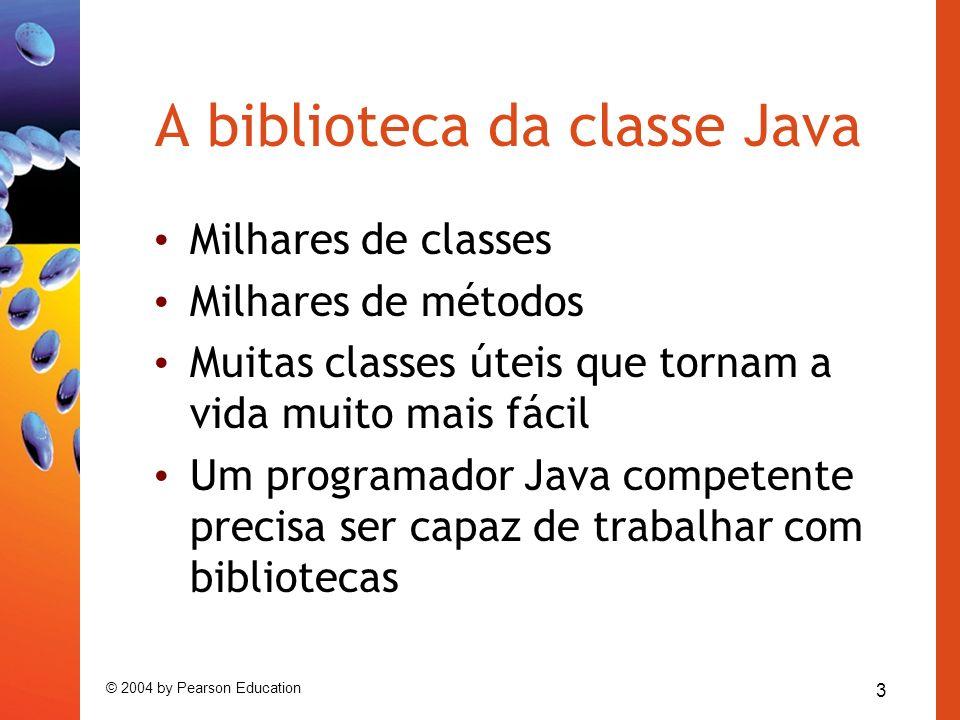 A biblioteca da classe Java