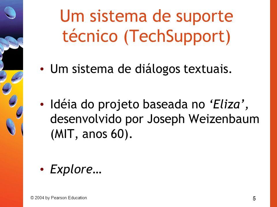 Um sistema de suporte técnico (TechSupport)