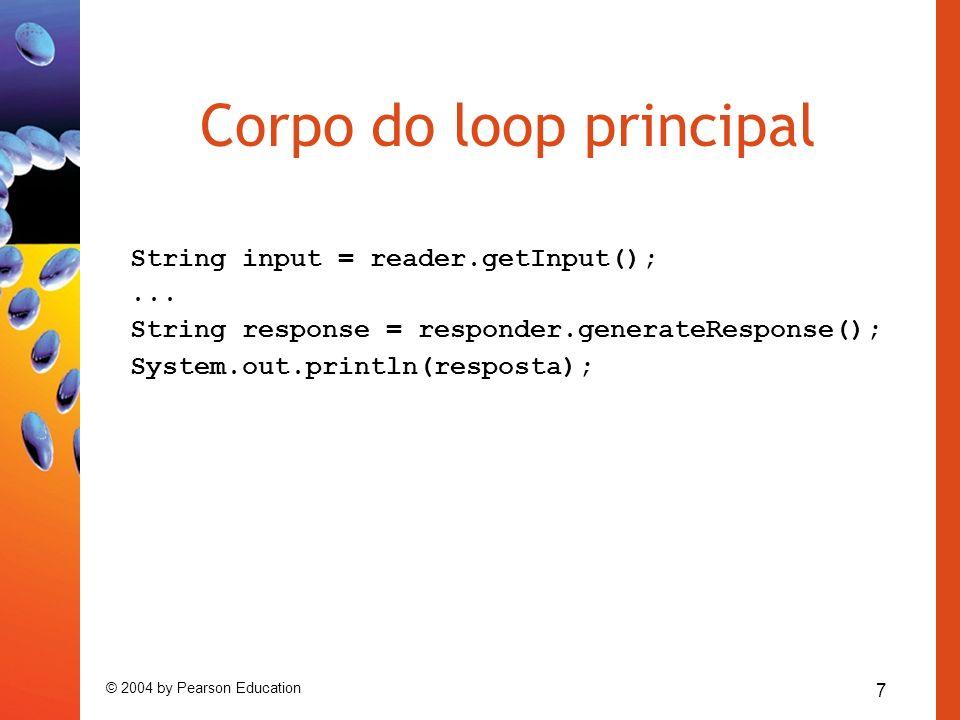 Corpo do loop principal