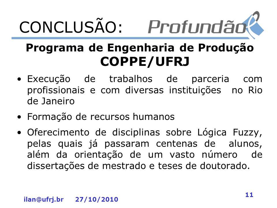 Programa de Engenharia de Produção COPPE/UFRJ
