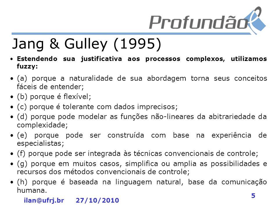 Jang & Gulley (1995) Estendendo sua justificativa aos processos complexos, utilizamos fuzzy: