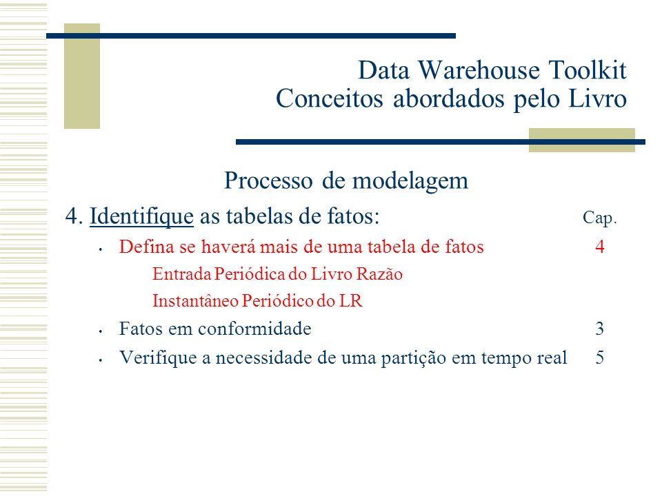 Data Warehouse Toolkit Conceitos abordados pelo Livro