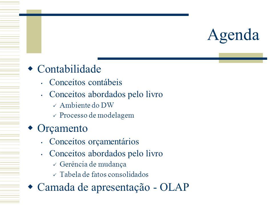 Agenda Contabilidade Orçamento Camada de apresentação - OLAP