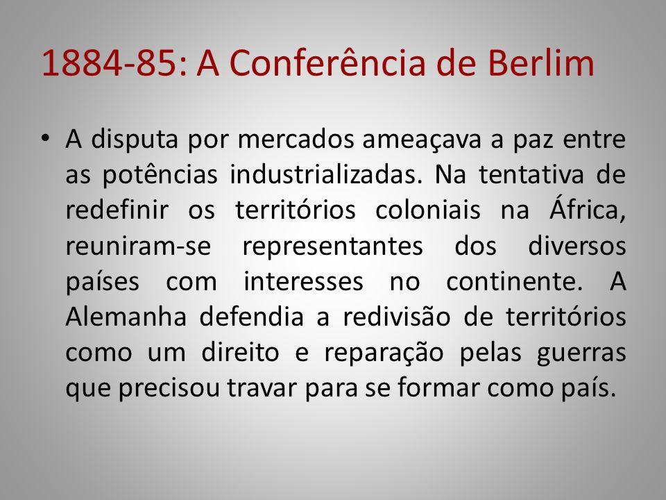 1884-85: A Conferência de Berlim