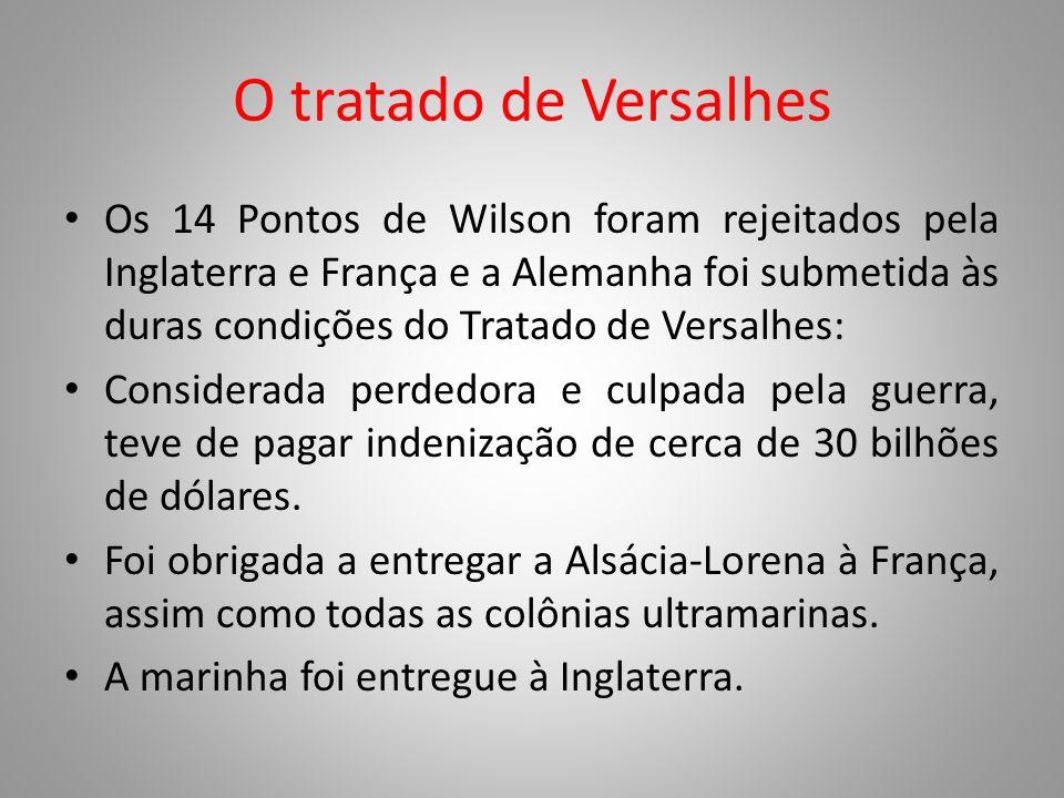 O tratado de Versalhes
