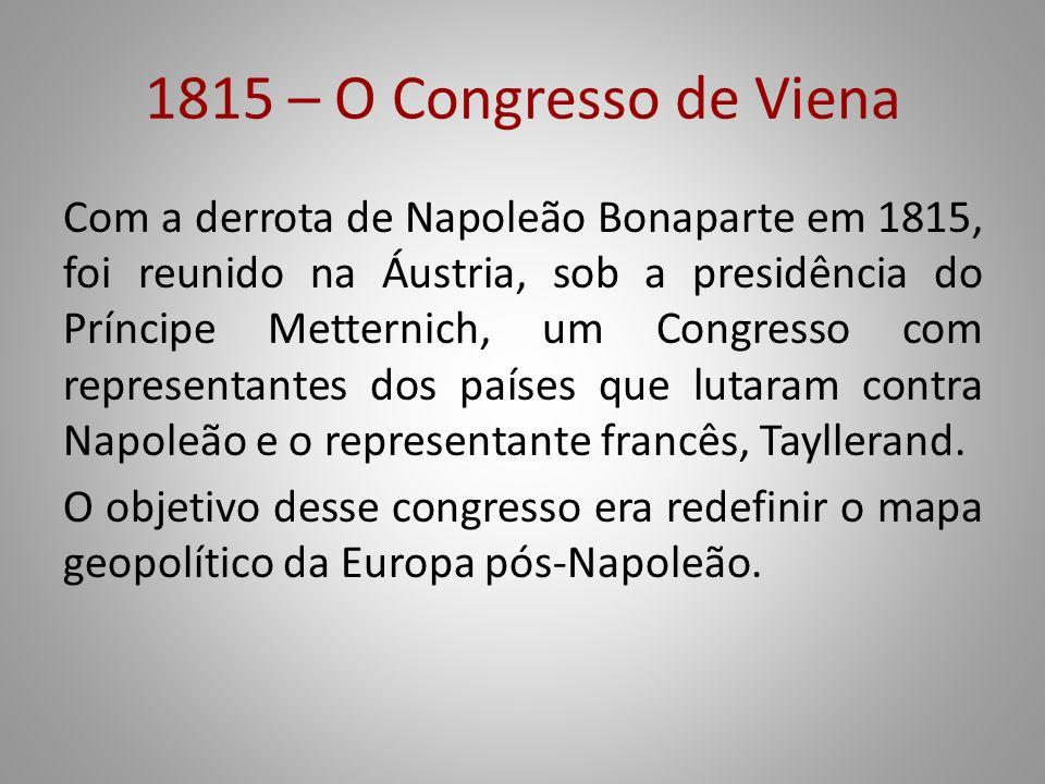 1815 – O Congresso de Viena