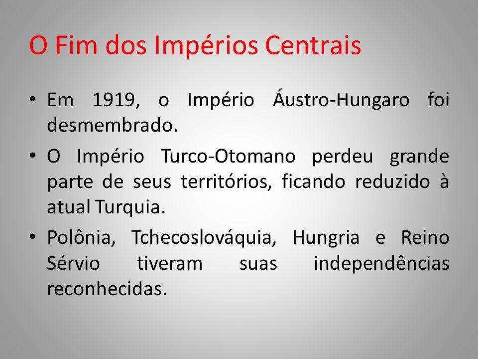 O Fim dos Impérios Centrais