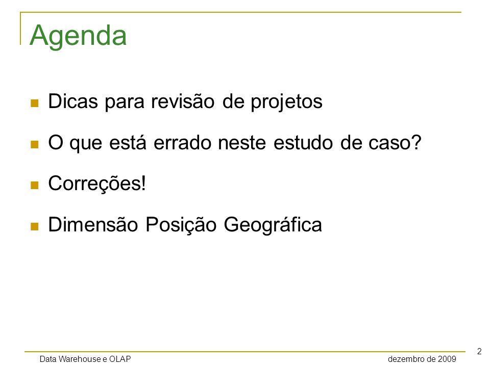 Agenda Dicas para revisão de projetos