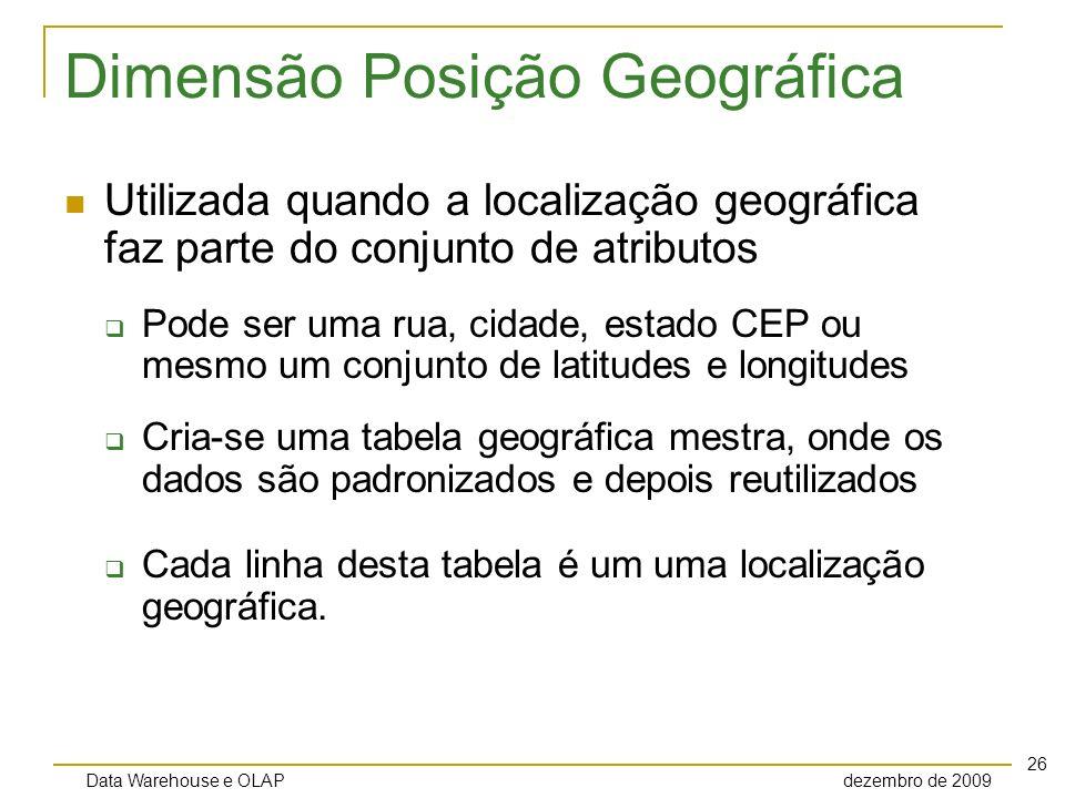 Dimensão Posição Geográfica