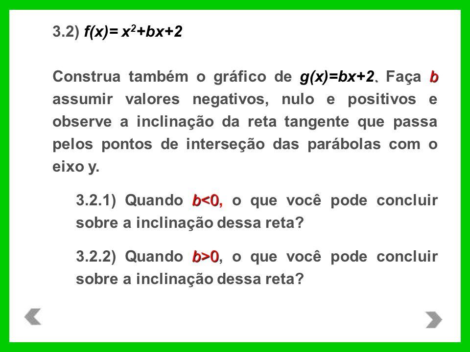 3.2) f(x)= x2+bx+2