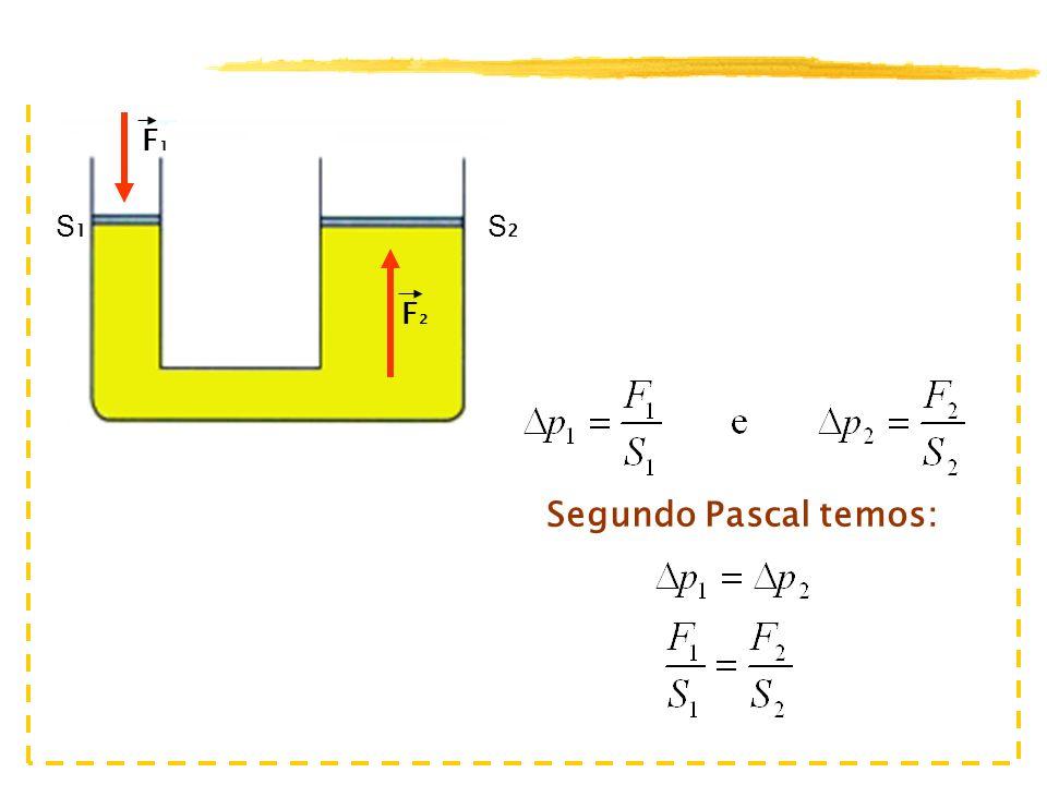 F2 F1 S1 S2 Segundo Pascal temos: