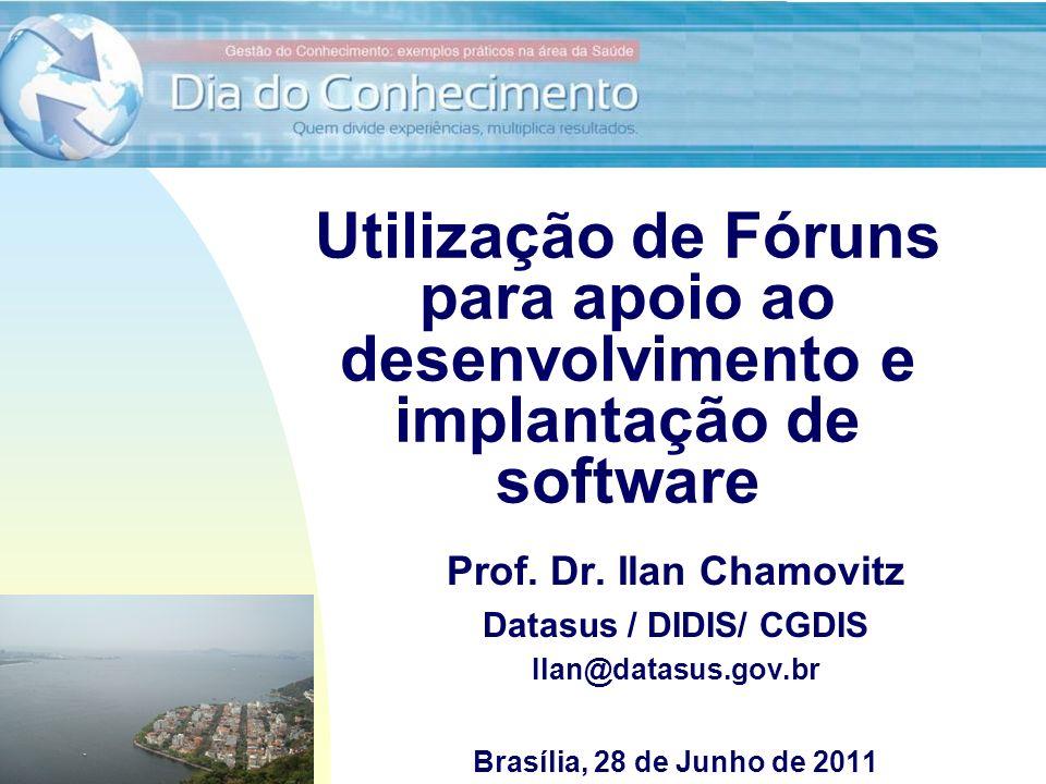 Utilização de Fóruns para apoio ao desenvolvimento e implantação de software