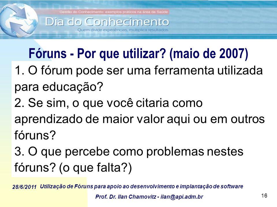 Fóruns - Por que utilizar (maio de 2007)
