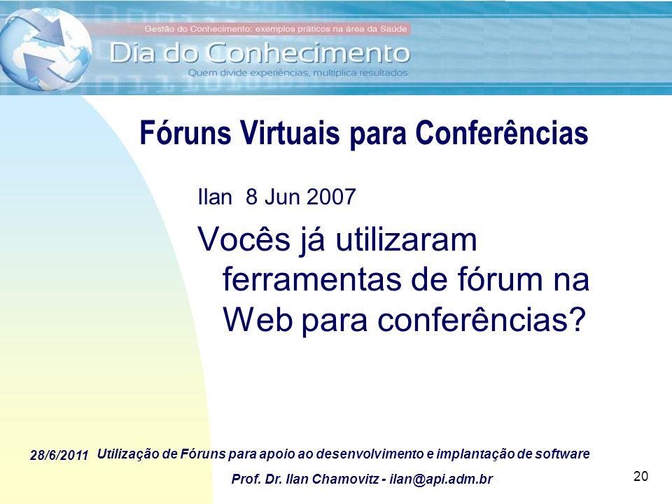 Fóruns Virtuais para Conferências