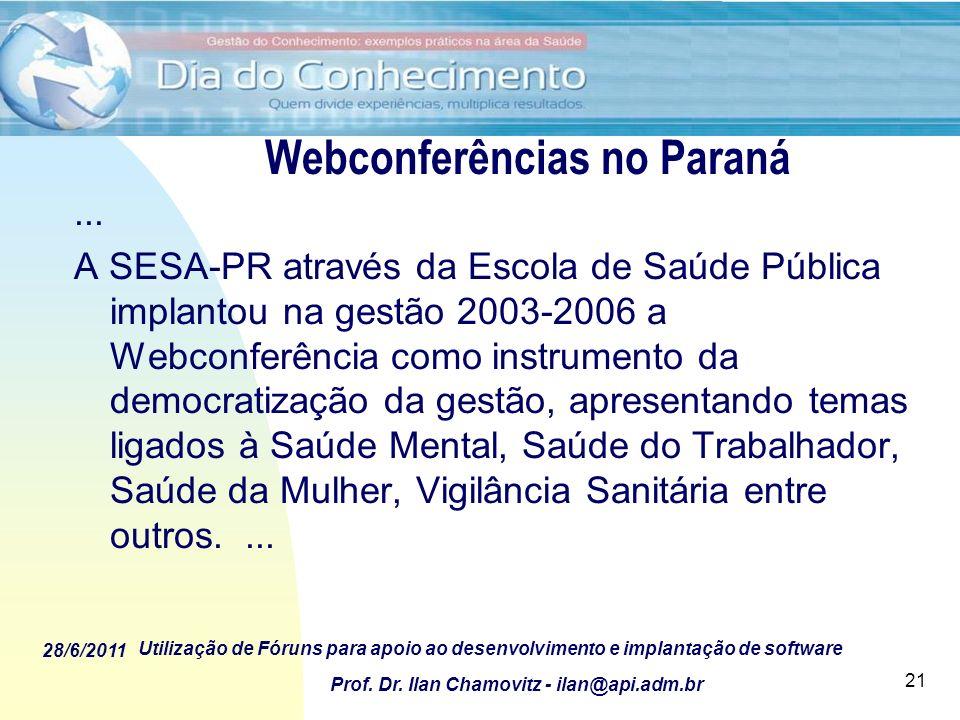 Webconferências no Paraná