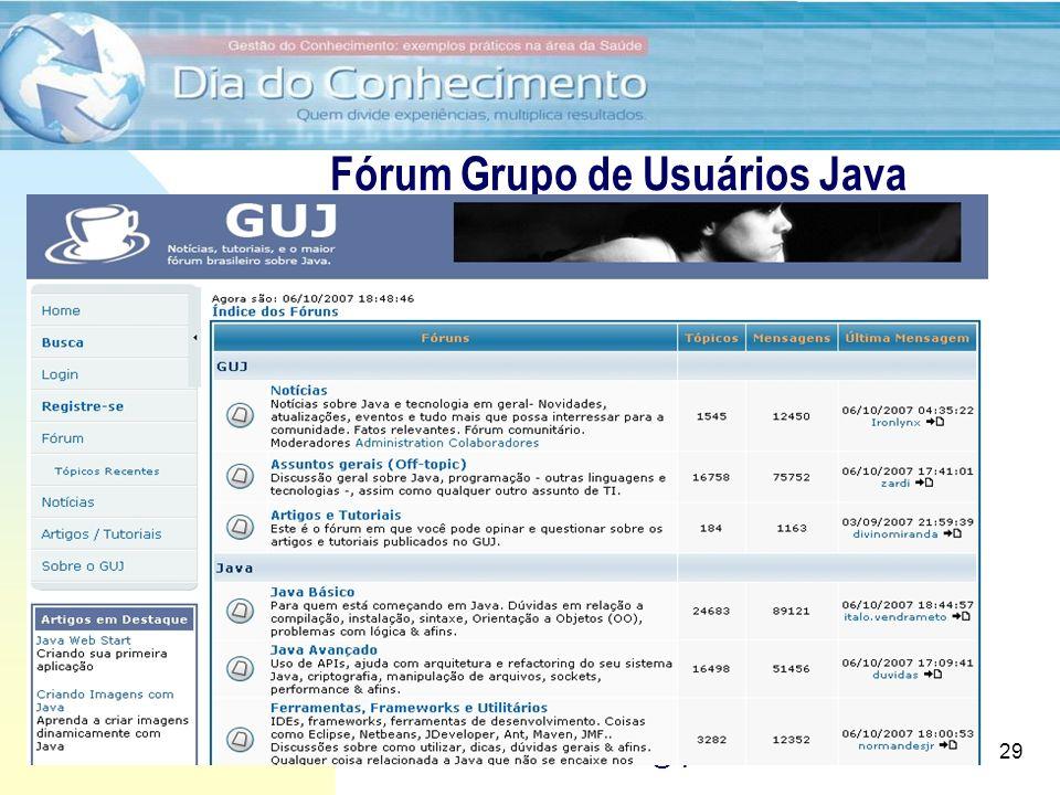Fórum Grupo de Usuários Java