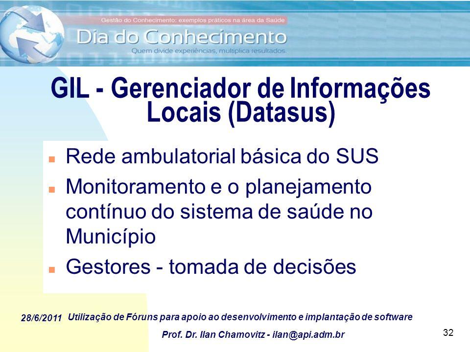 GIL - Gerenciador de Informações Locais (Datasus)