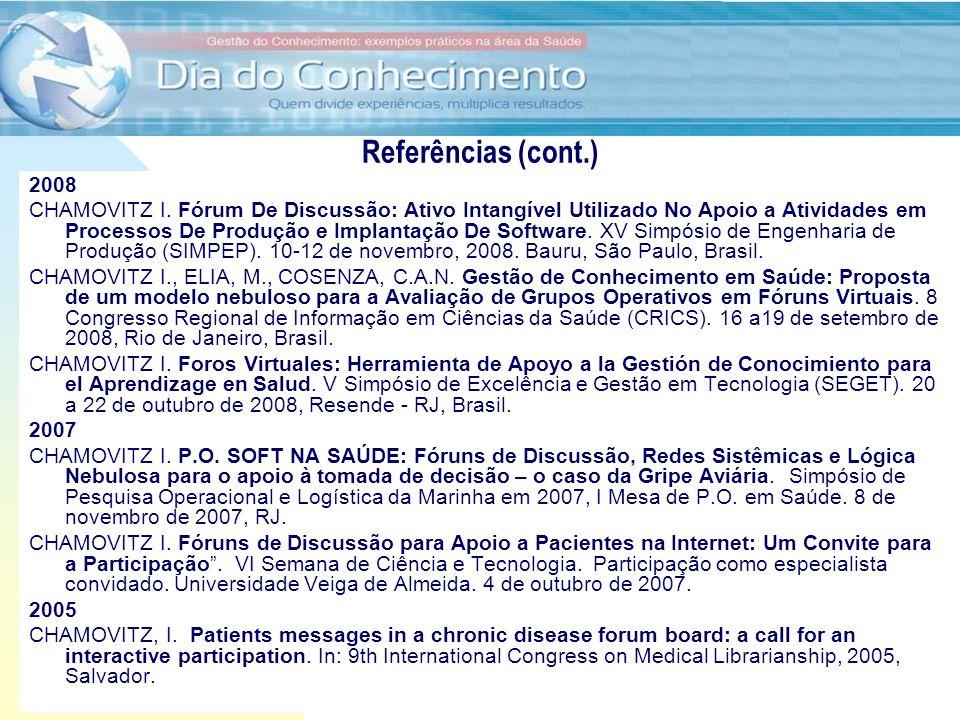 Referências (cont.) 2008.