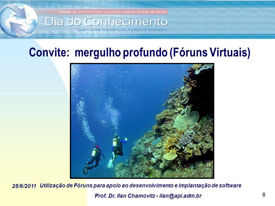Convite: mergulho profundo (Fóruns Virtuais)