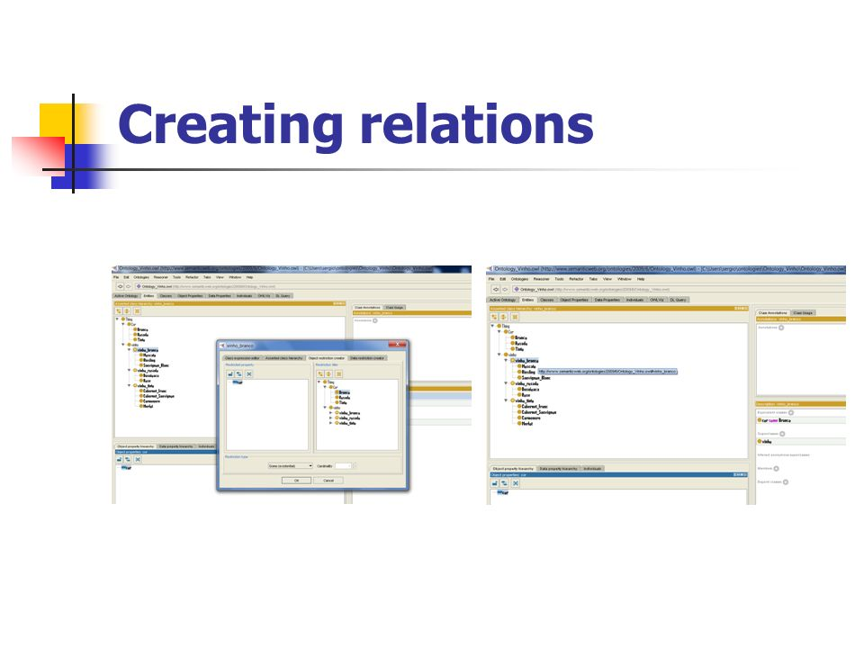 Creating relations