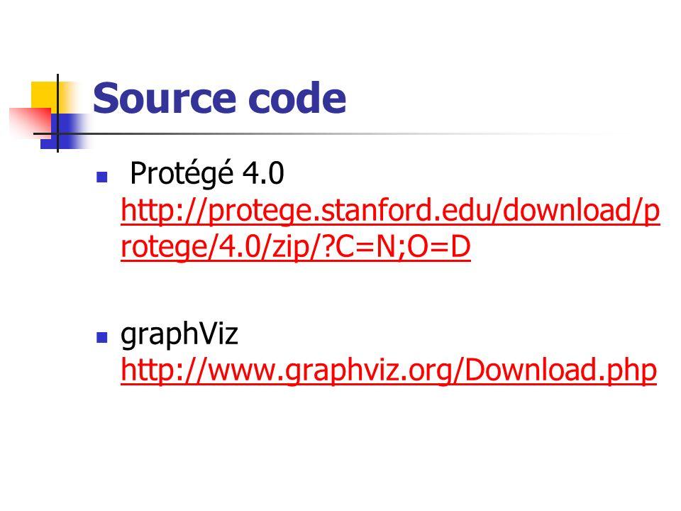 Source code Protégé 4.0 http://protege.stanford.edu/download/protege/4.0/zip/ C=N;O=D.