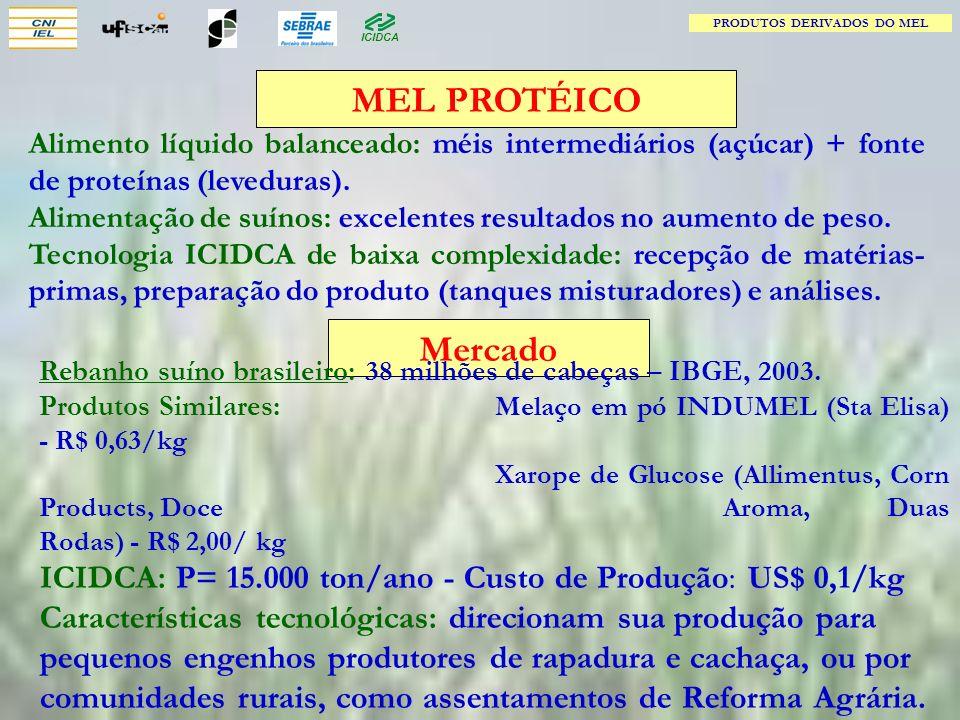 PRODUTOS DERIVADOS DO MEL Tem mercado potencial no Brasil.