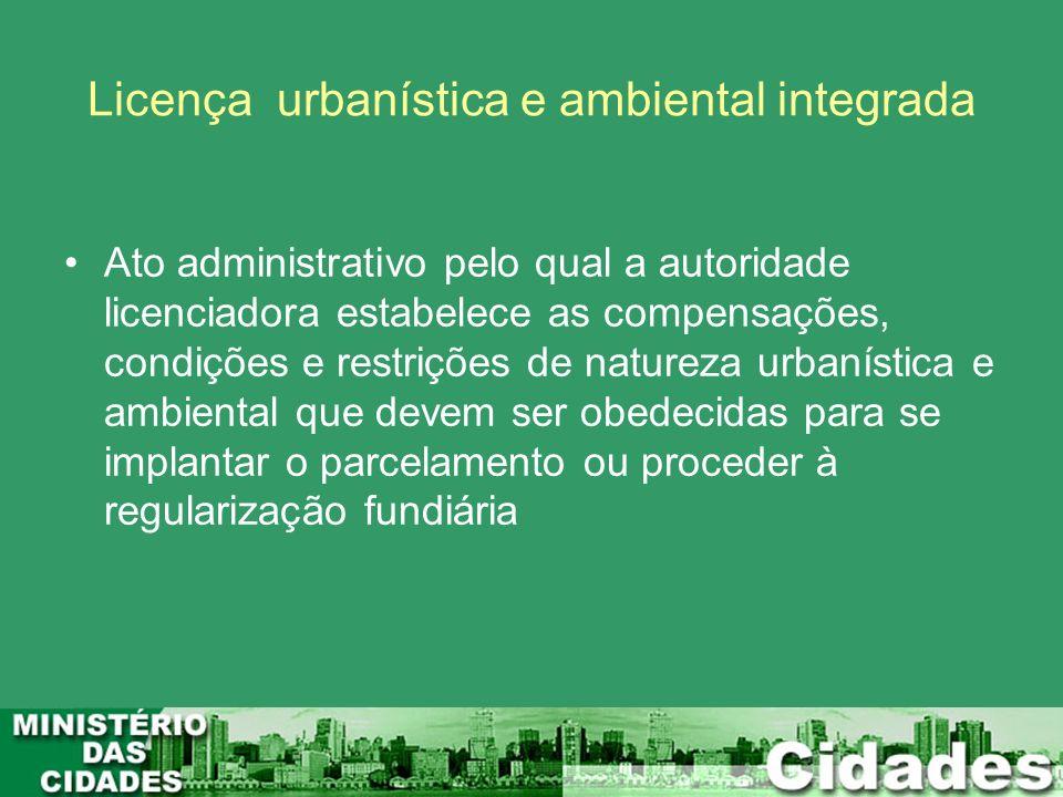 Licença urbanística e ambiental integrada