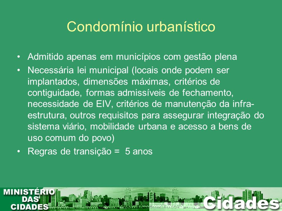 Condomínio urbanístico
