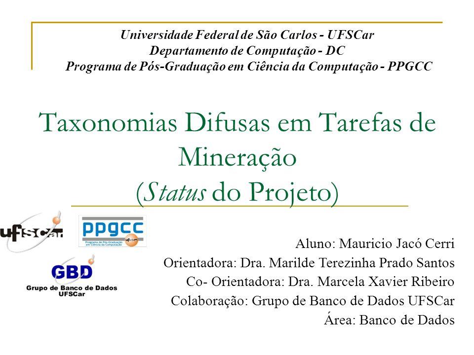 Taxonomias Difusas em Tarefas de Mineração (Status do Projeto)