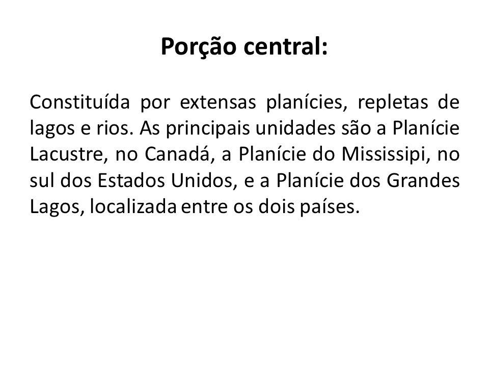 Porção central: