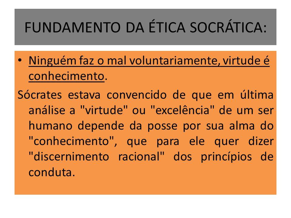 FUNDAMENTO DA ÉTICA SOCRÁTICA: