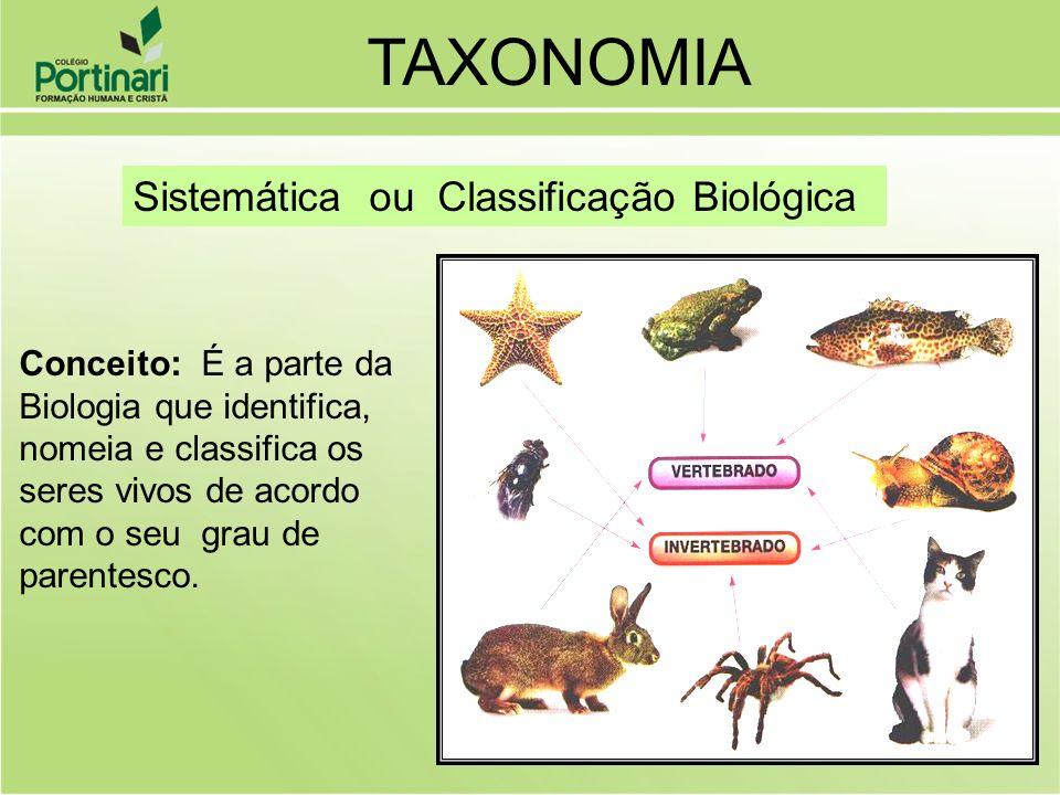 TAXONOMIA Sistemática ou Classificação Biológica