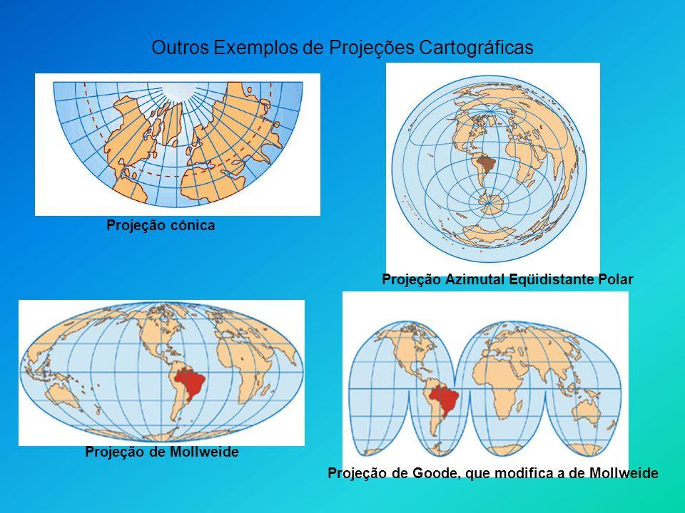 Outros Exemplos de Projeções Cartográficas