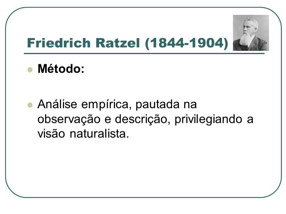 Friedrich Ratzel (1844-1904) Método: