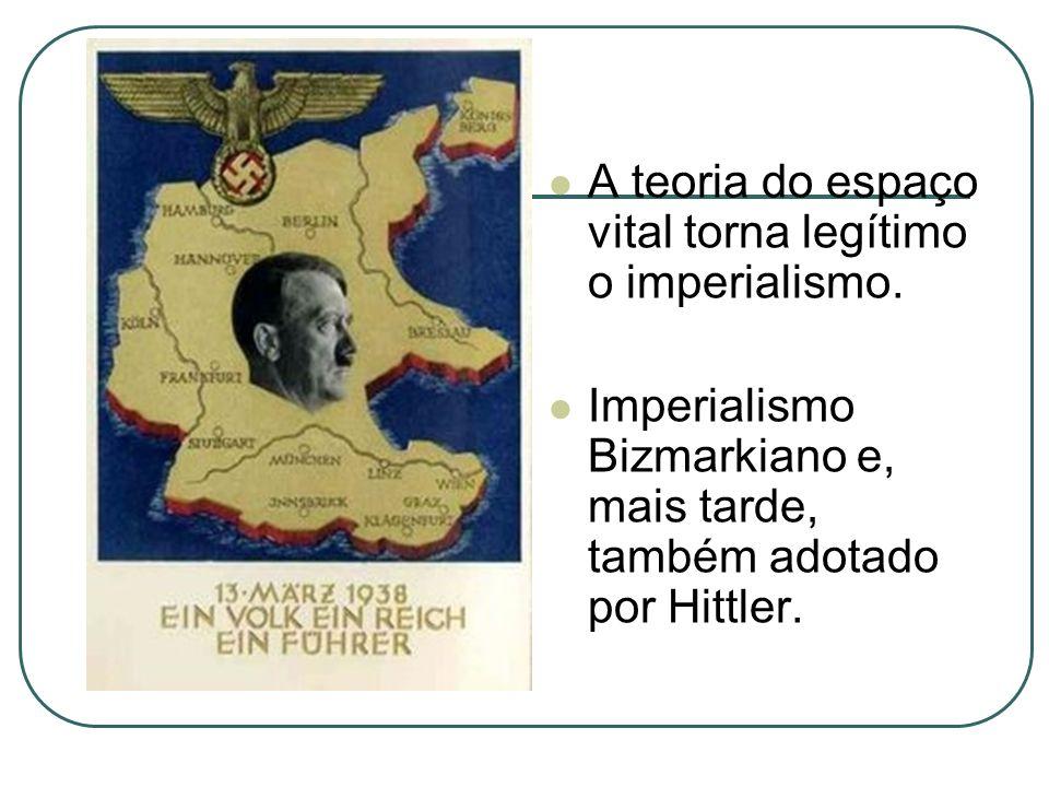 A teoria do espaço vital torna legítimo o imperialismo.