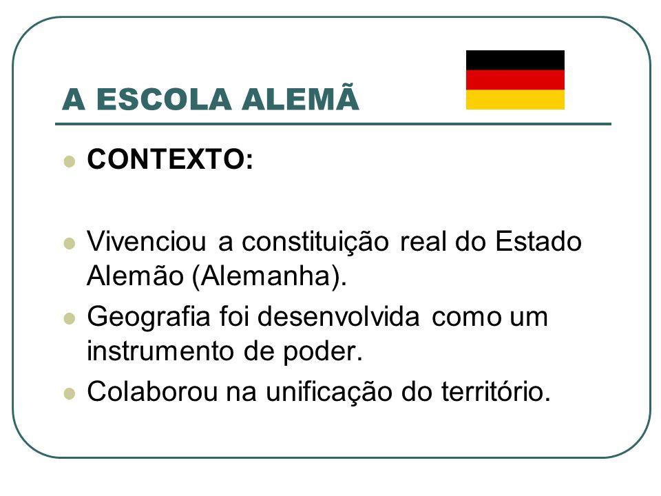 A ESCOLA ALEMÃ CONTEXTO: