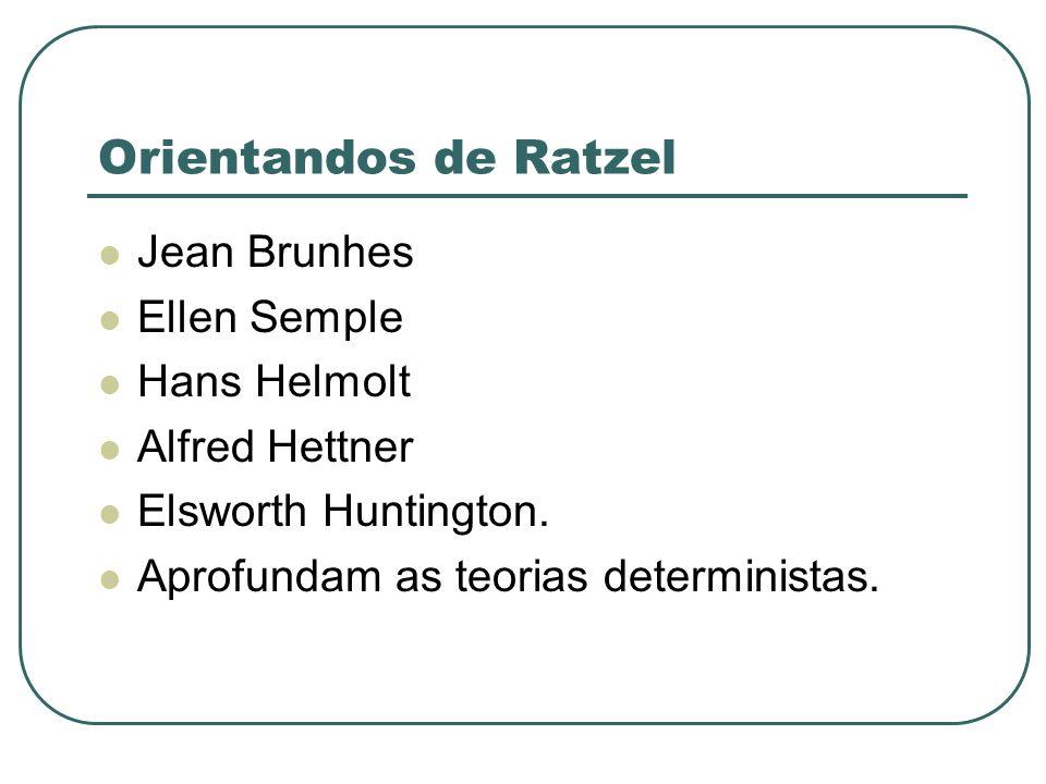 Orientandos de Ratzel Jean Brunhes Ellen Semple Hans Helmolt