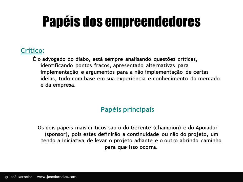 Papéis dos empreendedores